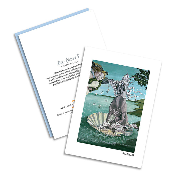 Chinese Crested Barkicelli Notecard Set