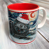 Chow Black Holiday Starry Night Mug