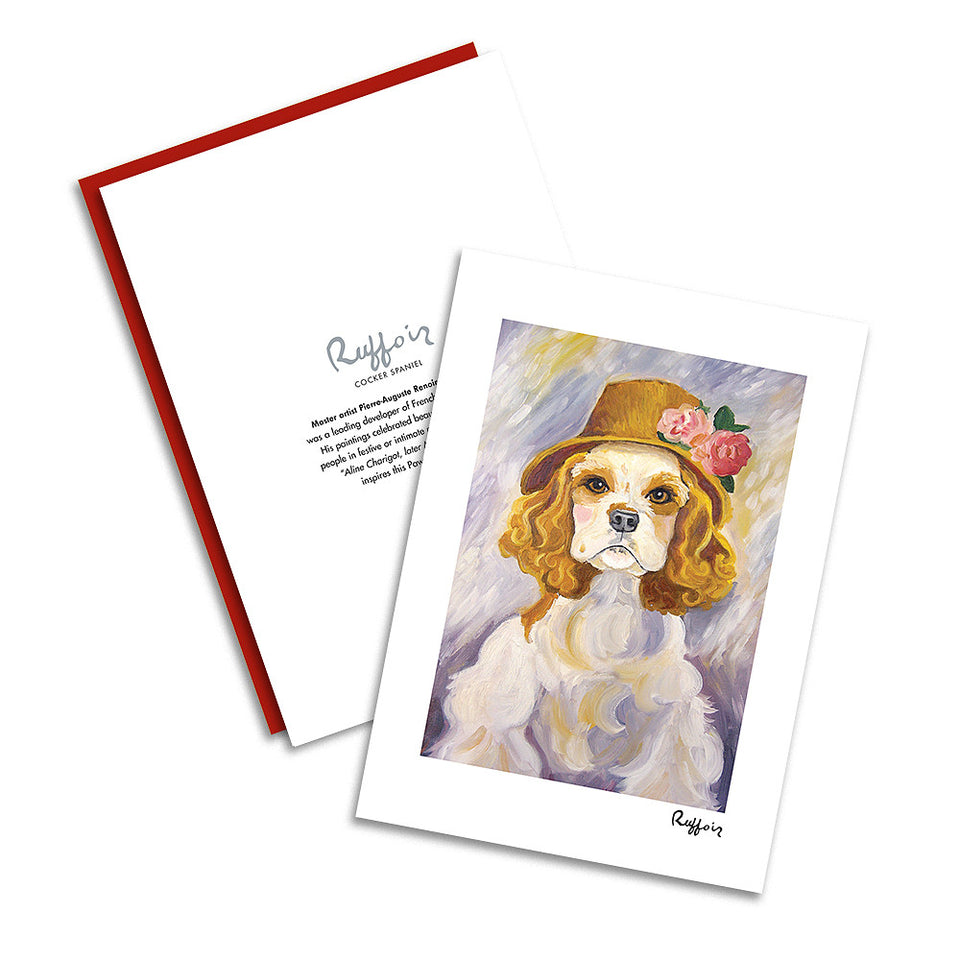 Cocker Spaniel Ruffoir Notecard Set