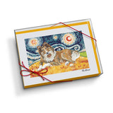 Collie Starry Night Notecard Set