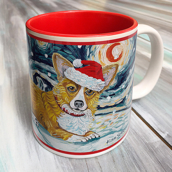 Corgi Pembroke Welsh Holiday Starry Night Mug