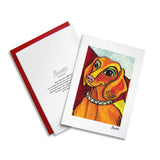 Dachshund Pawcasso Notecard Set
