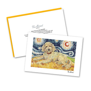 Doodle Golden Starry Night Notecard Set