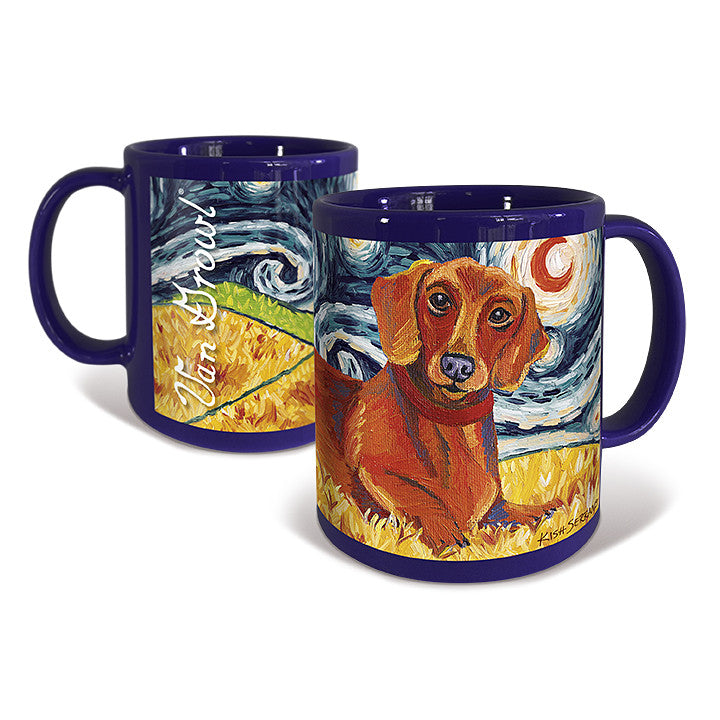 Dachshund Red Starry Night Mug