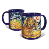 Dachshund Longhair Red Starry Night Mug
