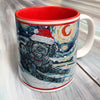 Doodle Black Holiday Starry Night Mug