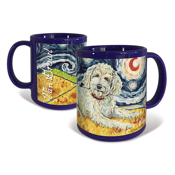Doodle Cream Starry Night Mug
