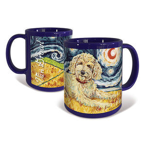 Doodle Golden Starry Night Mug