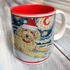 Doodle Golden Holiday Starry Night Mug