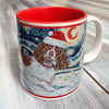 English Springer Spaniel Holiday Starry Night Mug