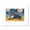 French Bulldog Starry Night Matted Print