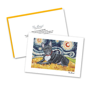 French Bulldog Starry Night Notecard Set