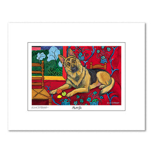 German Shepherd Muttisse Matted Print