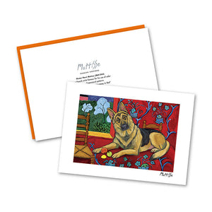 German Shepherd Muttisse Notecard Set