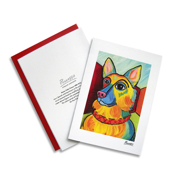German Shepherd Pawcasso Notecard Set
