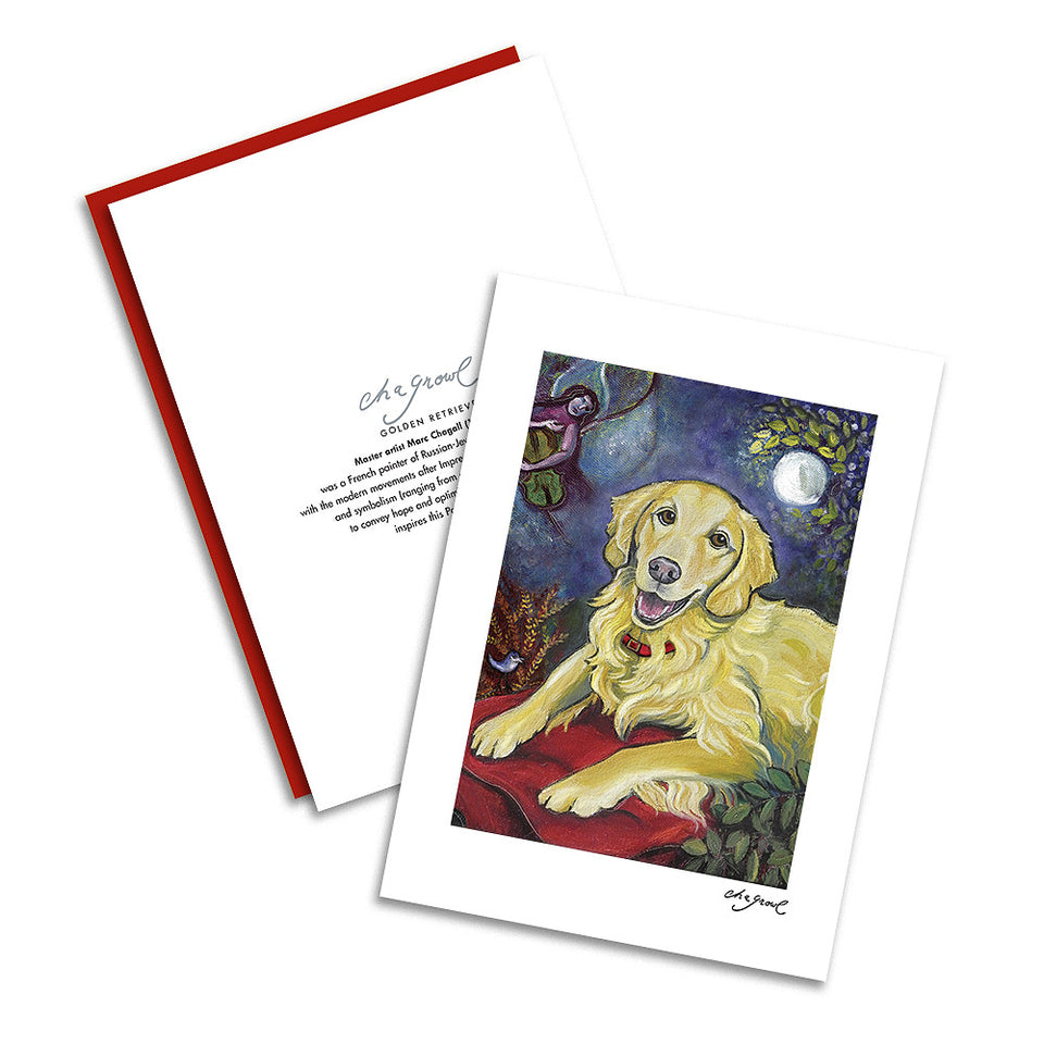 Golden Retriever Chagrowl Notecard Set