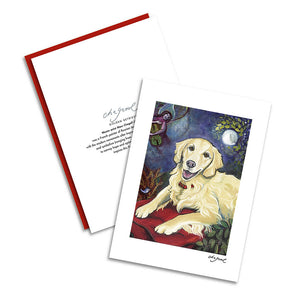 Golden Retriever Cream Chagrowl Notecard Set