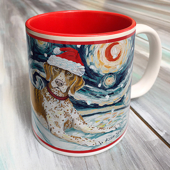 German Shorthair Pointer Holiday Starry Night Mug