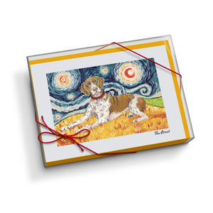 German Shorthair Pointer Starry Night Notecard Set