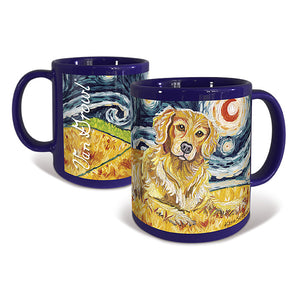 Golden Retriever Starry Night Mug