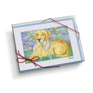Golden Retriever Bonét Notecard Set