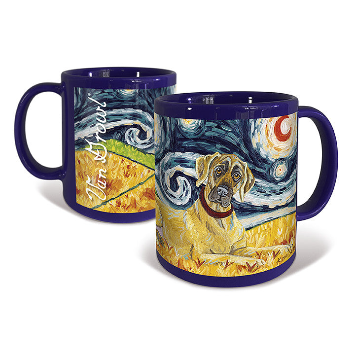 Great Dane ears un-cropped Starry Night Mug