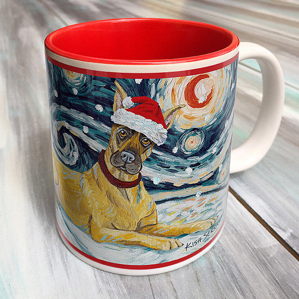 Great Dane Holiday Starry Night Mug