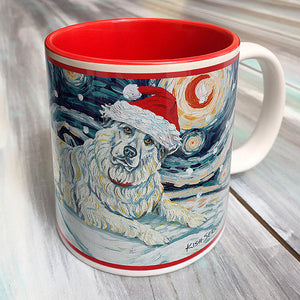 Great Pyrenees Holiday Starry Night Mug