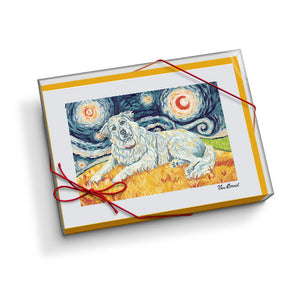 Great Pyrenees Starry Night Notecard Set