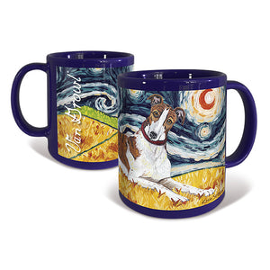 Greyhound Starry Night Mug