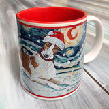 Greyhound Holiday Starry Night Mug