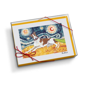 Greyhound Starry Night Notecard Set