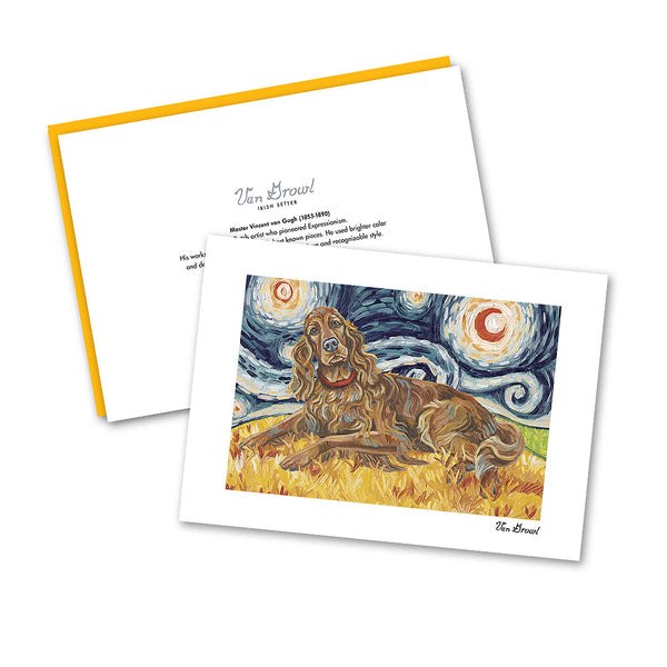 Irish Setter Starry Night Notecard Set