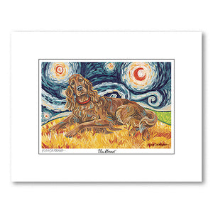 Irish Setter Starry Night Matted Print
