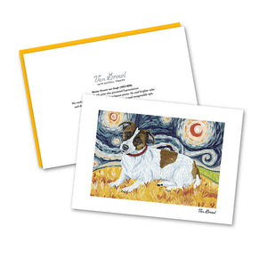 Jack Russell Terrier Starry Night Notecard Set