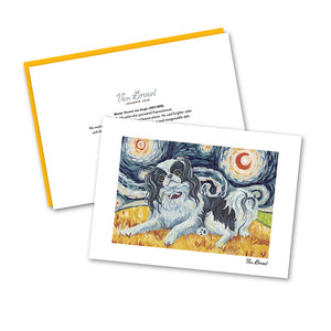 Japanese Chin Starry Night Notecard Set
