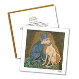 Greyhound Kiss Notecard