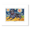 Labrador Black Starry Night Matted Print