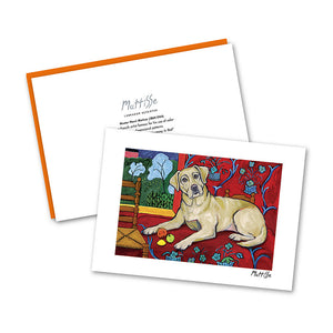 Labrador Retriever Yellow Muttisse Notecard Set