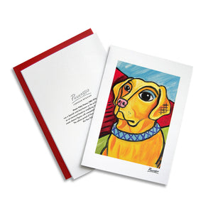 Labrador Retriever Yellow Pawcasso Notecard Set