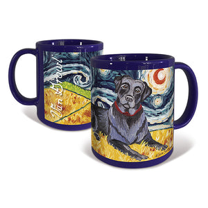 Labrador Black Starry Night Mug