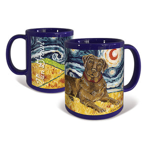 Labrador Chocolate Starry Night Mug