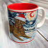 Labrador Chocolate Holiday Starry Night Mug