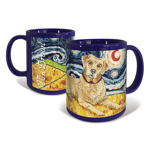 Labrador Yellow Starry Night Mug