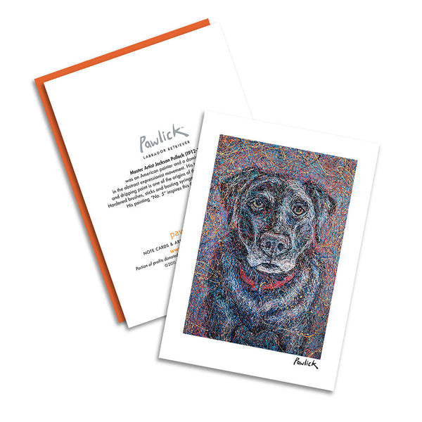 Labrador Retriever Black Pawlick Notecard Set