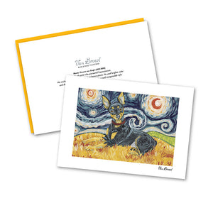 Miniature Pinscher Starry Night Notecard Set