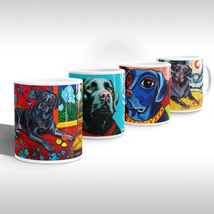 LAB ART MUG 11oz COLLECTION (black lab)