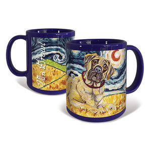 Mastiff Starry Night Mug