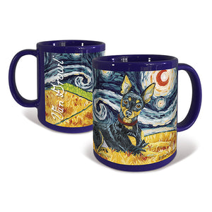 Miniature Pinscher Starry Night Mug