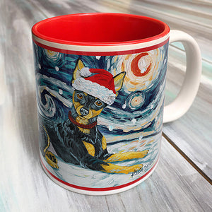 Miniature Pinscher Holiday Starry Night Mug